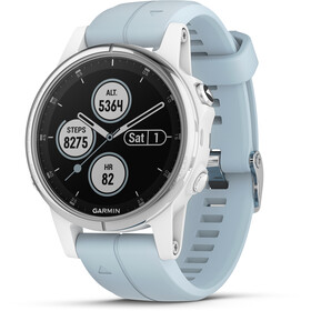Garmin fenix 5S Plus Montre connectée, white/seafoam